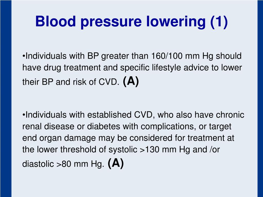 Blood pressure lowering (1)