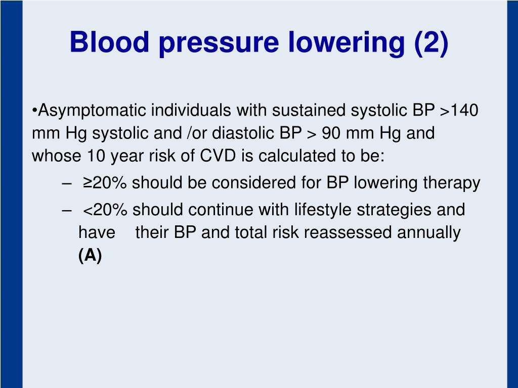 Blood pressure lowering (2)