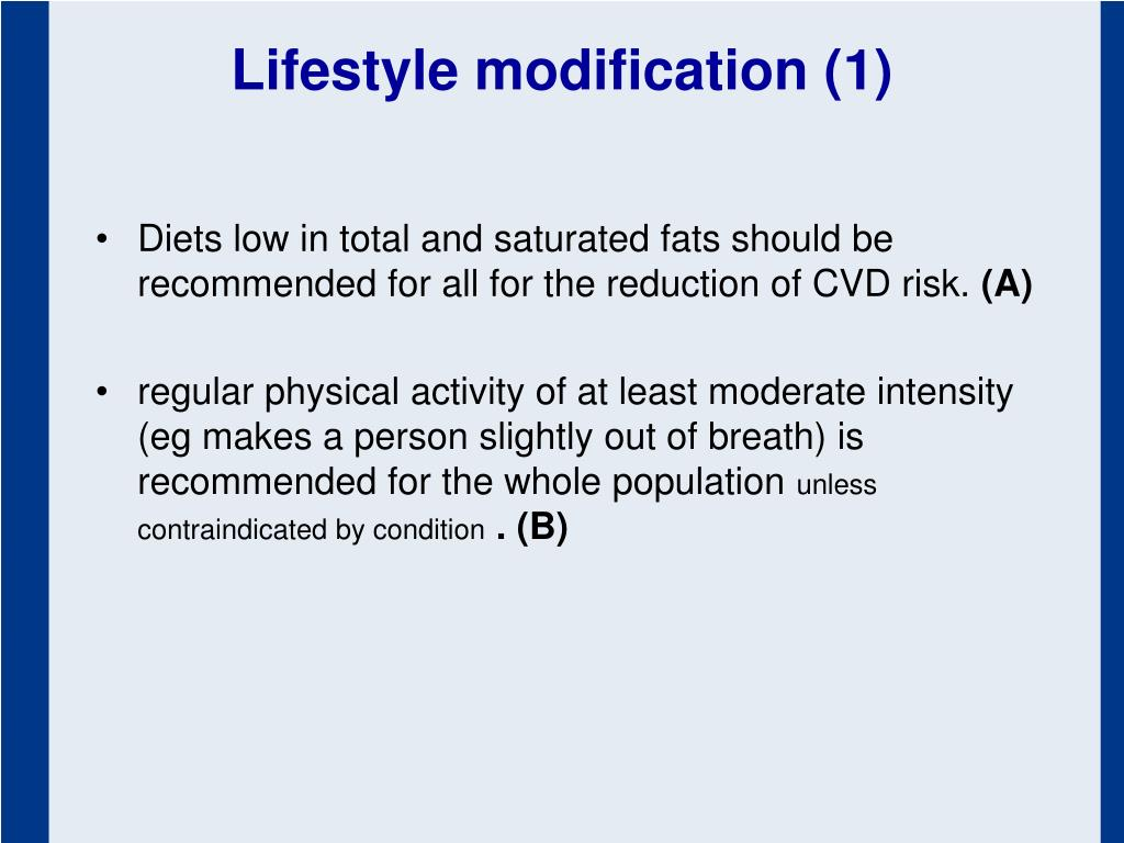 Lifestyle modification (1)