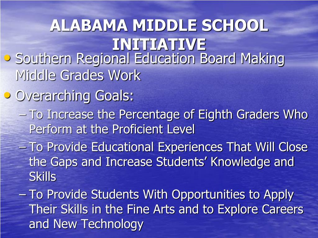 ALABAMA MIDDLE SCHOOL INITIATIVE