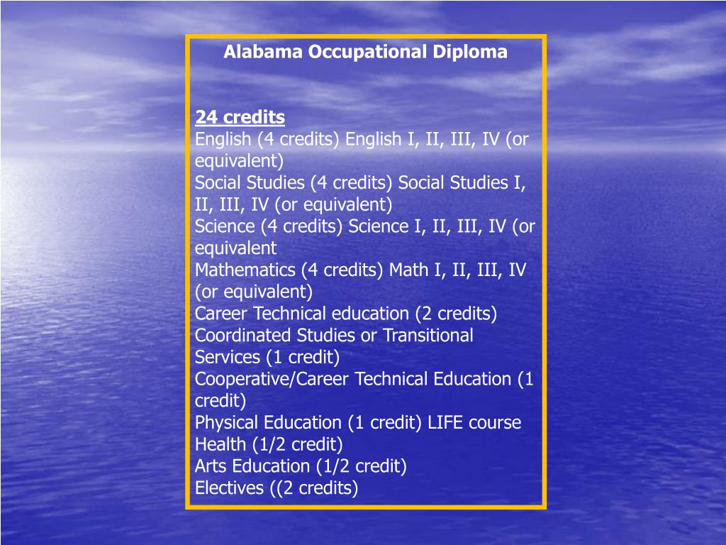 Alabama Occupational Diploma