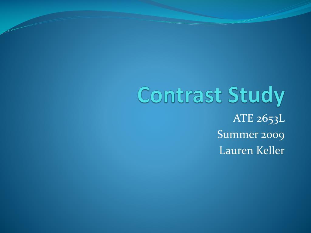 Contrast Study