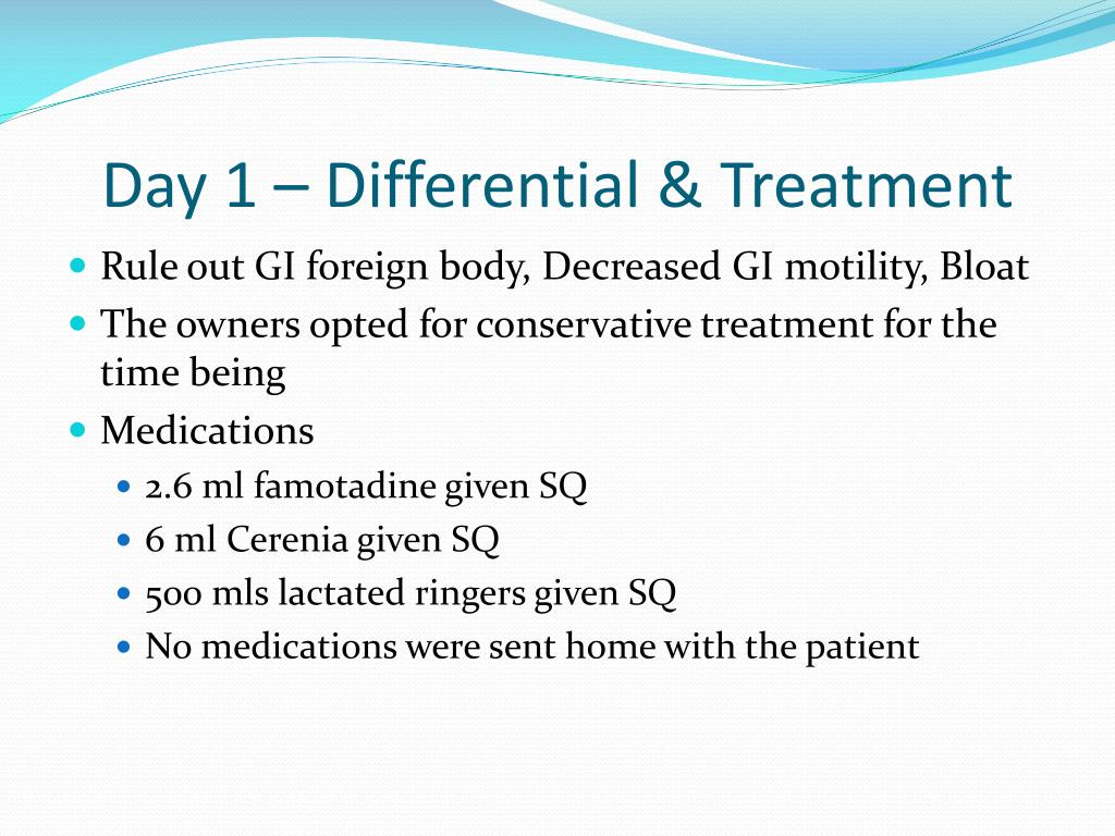 Day 1 – Differential & Treatment