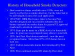 history of household smoke detectors