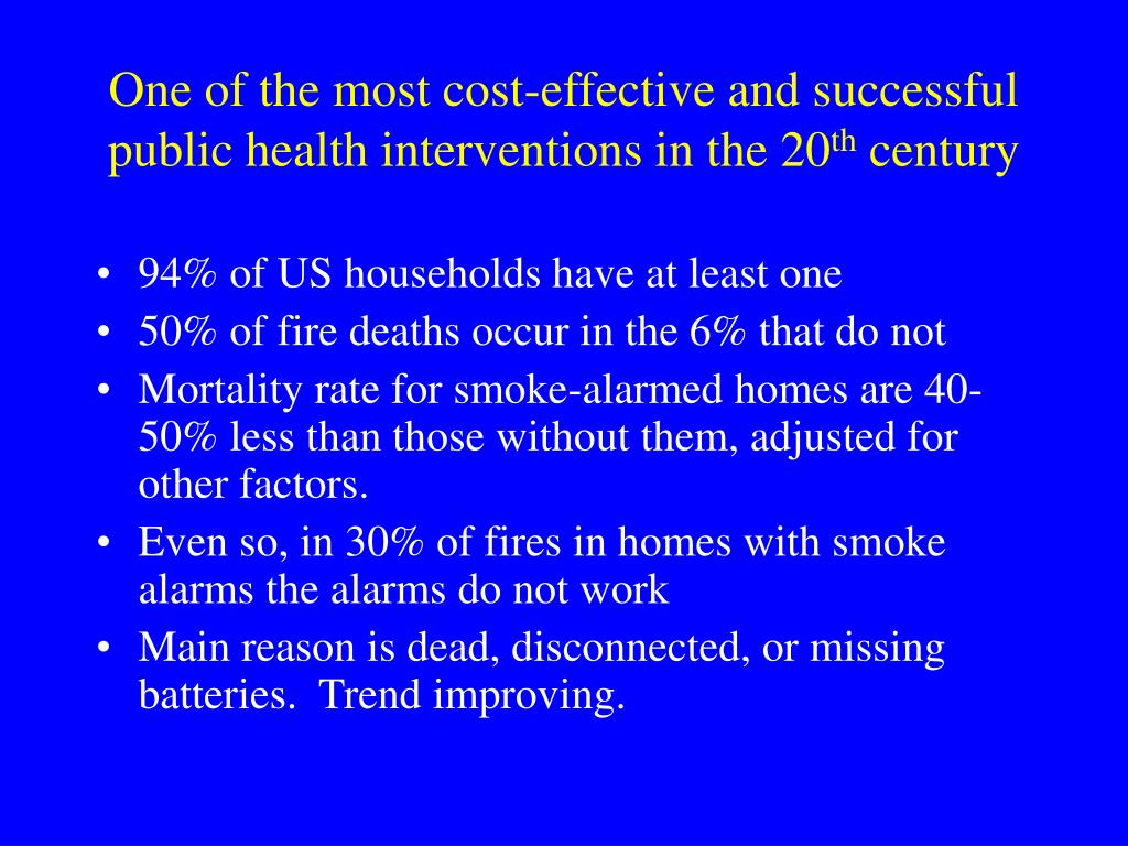 One of the most cost-effective and successful public health interventions in the 20