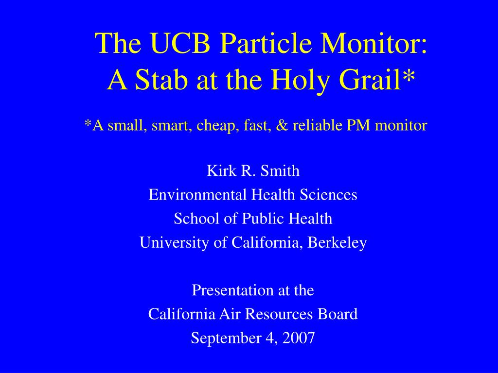 The UCB Particle Monitor: