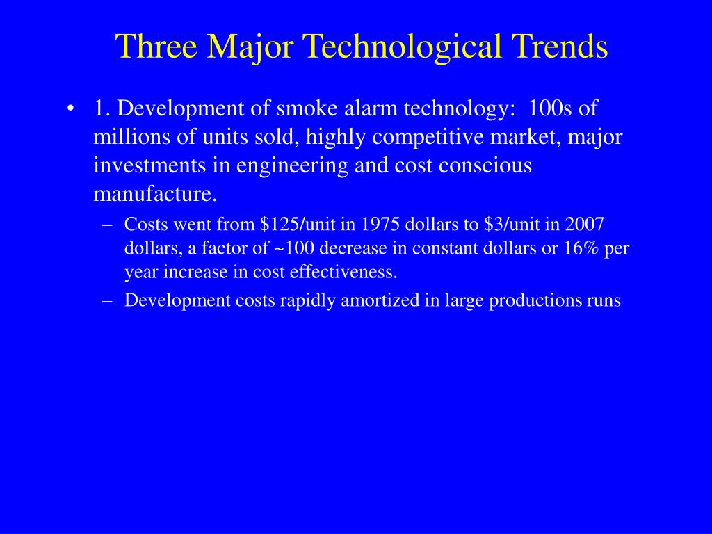Three Major Technological Trends
