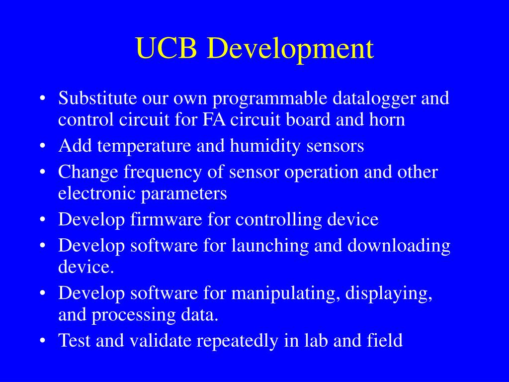 UCB Development