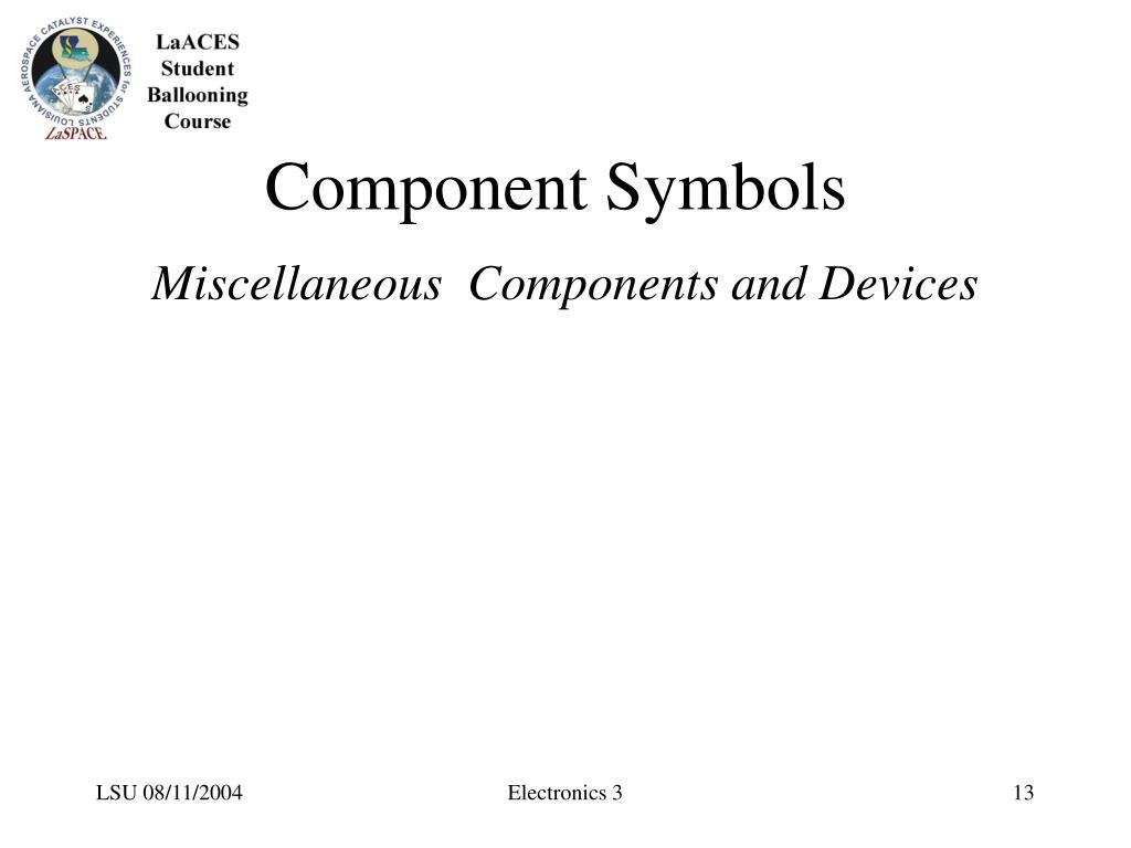 Component Symbols