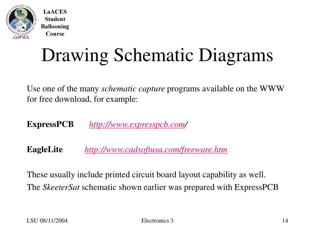 Drawing Schematic Diagrams