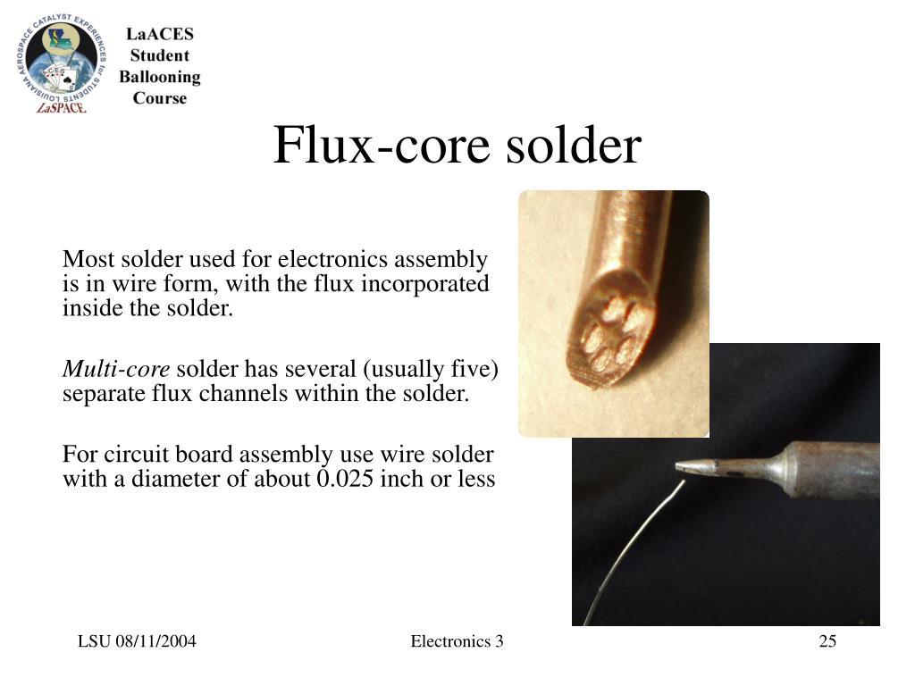Flux-core solder