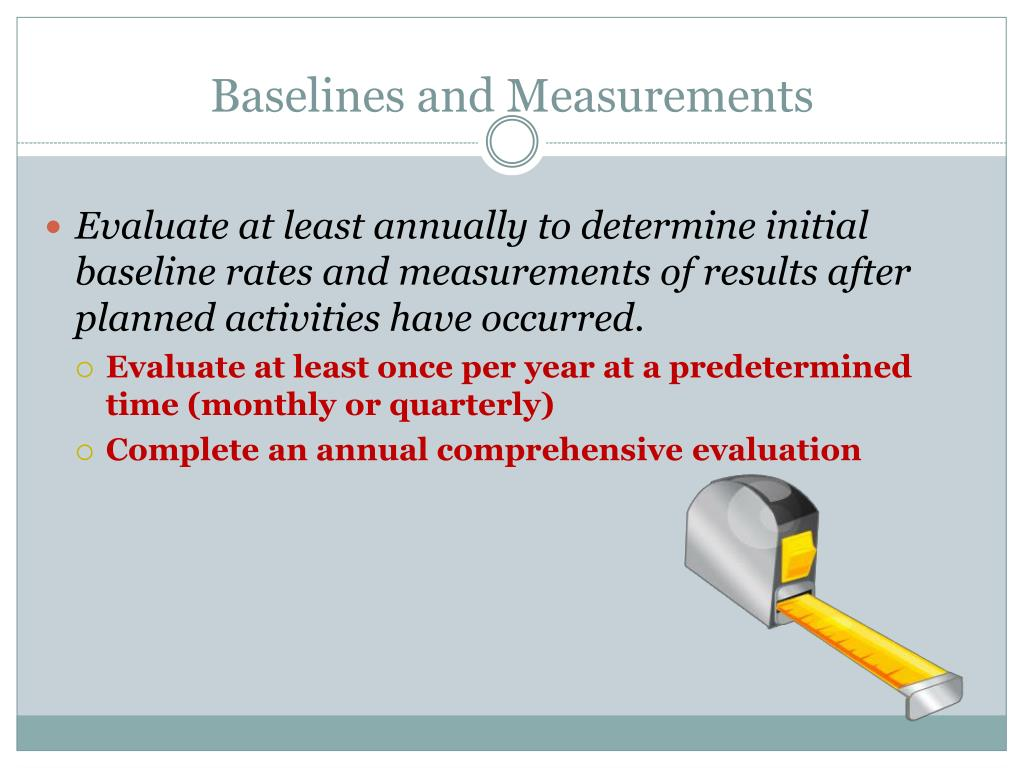 Baselines and Measurements
