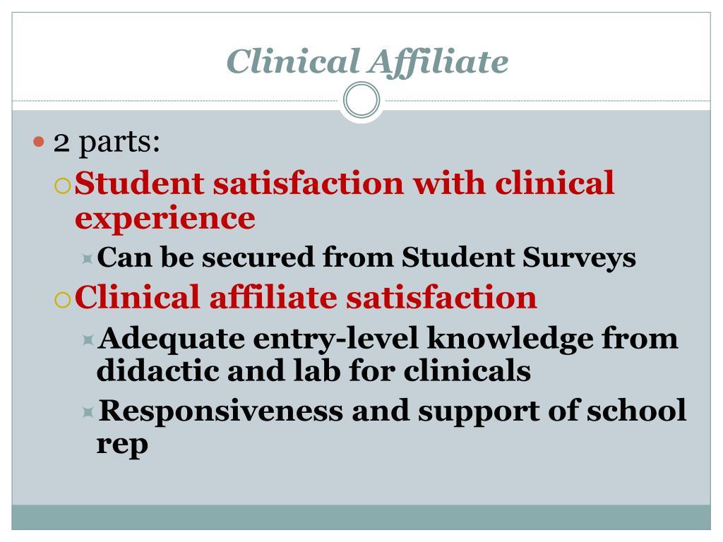 Clinical Affiliate