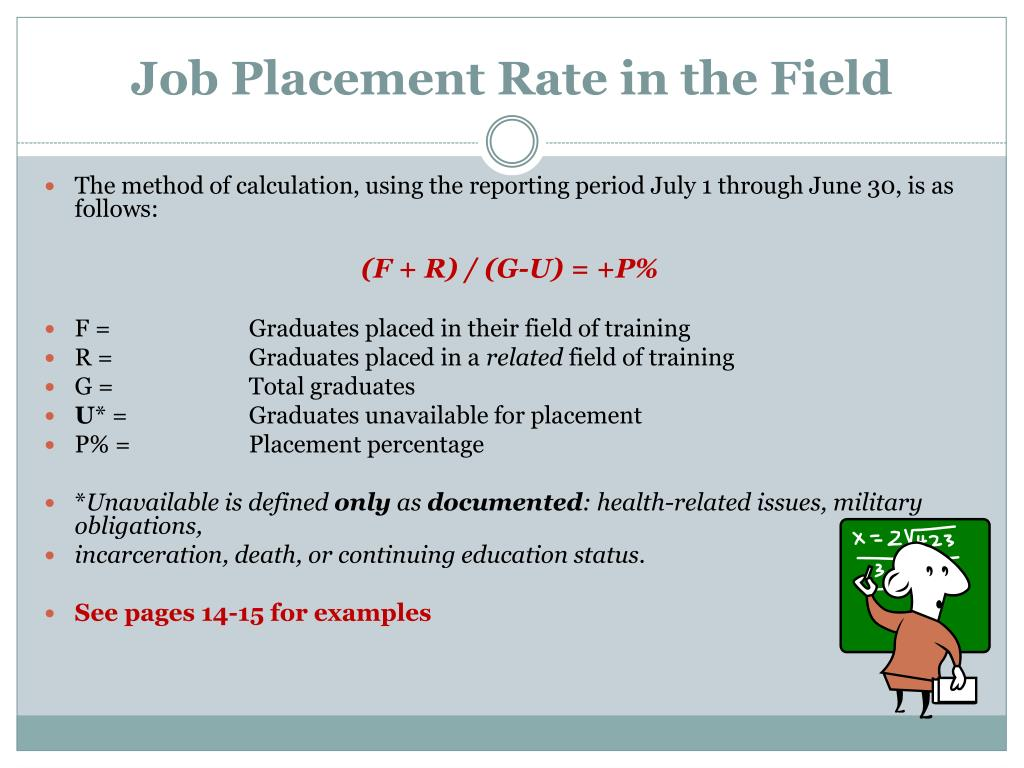Job Placement Rate in the Field