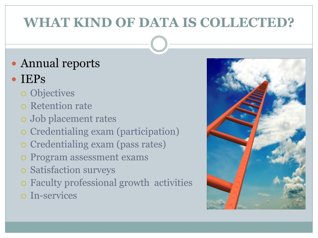 WHAT KIND OF DATA IS COLLECTED?