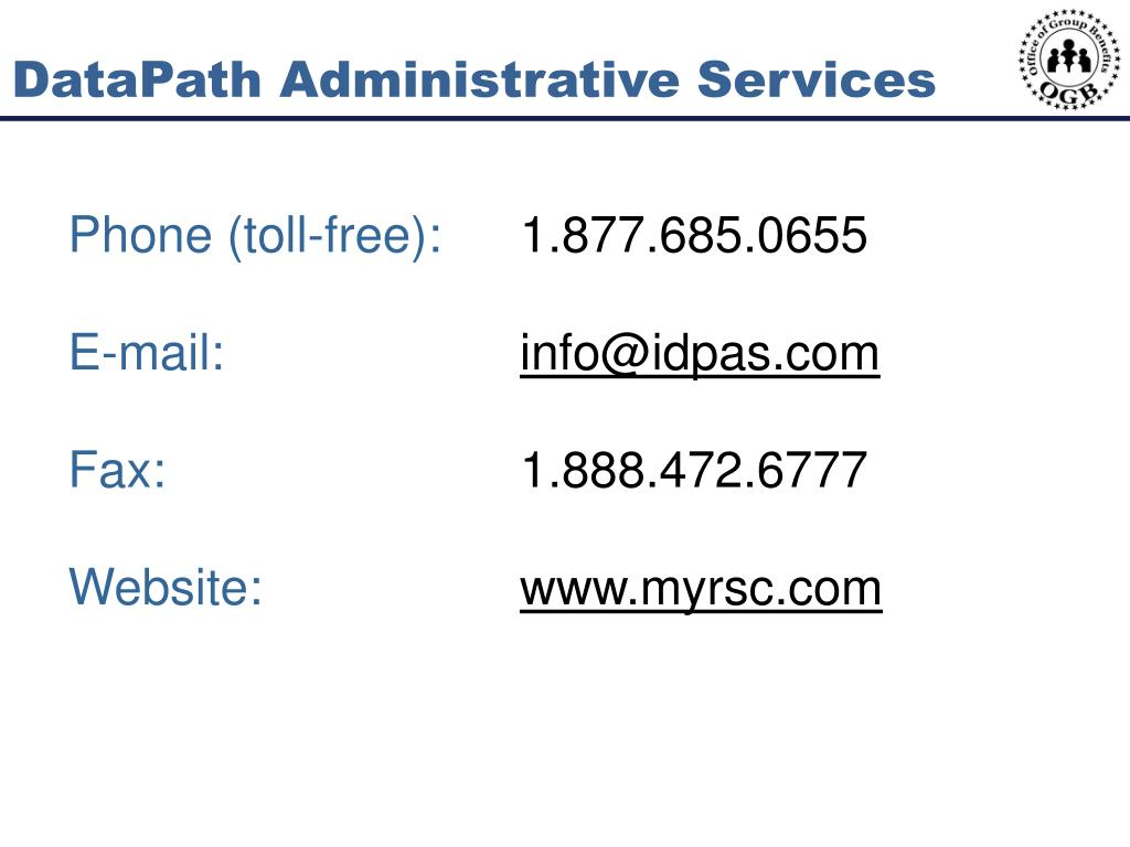 DataPath Administrative Services