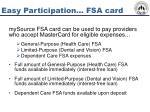 easy participation fsa card