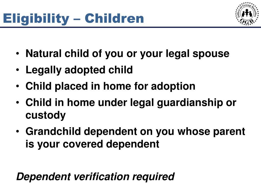 Eligibility – Children