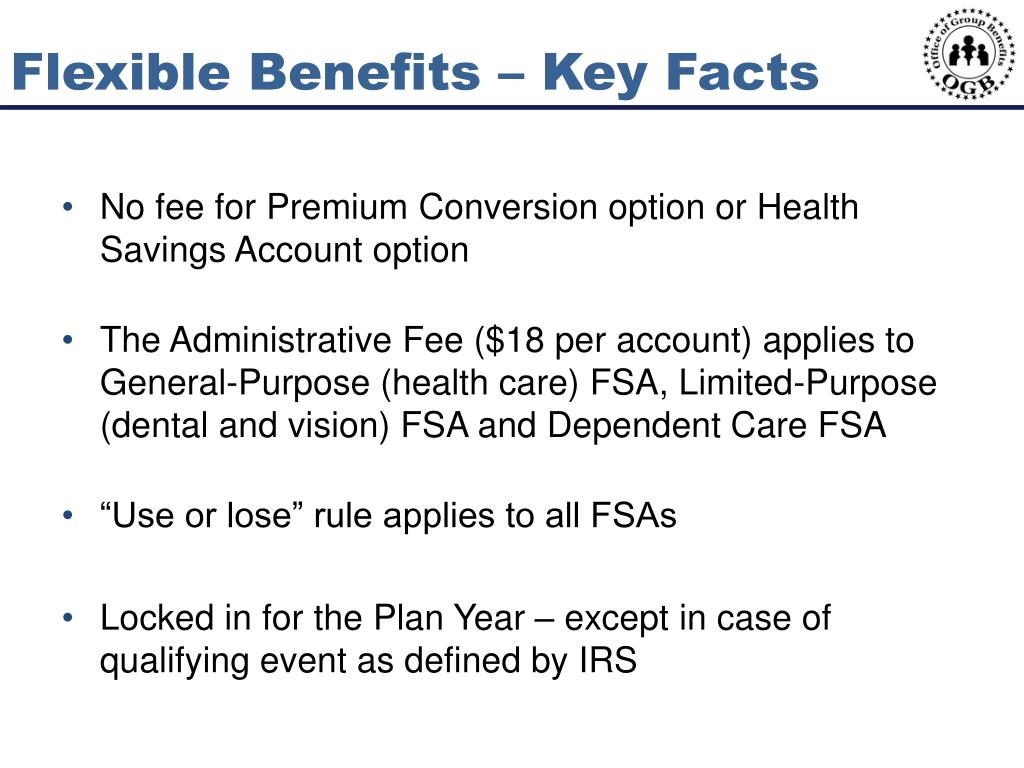 Flexible Benefits – Key Facts