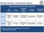 mental health substance abuse