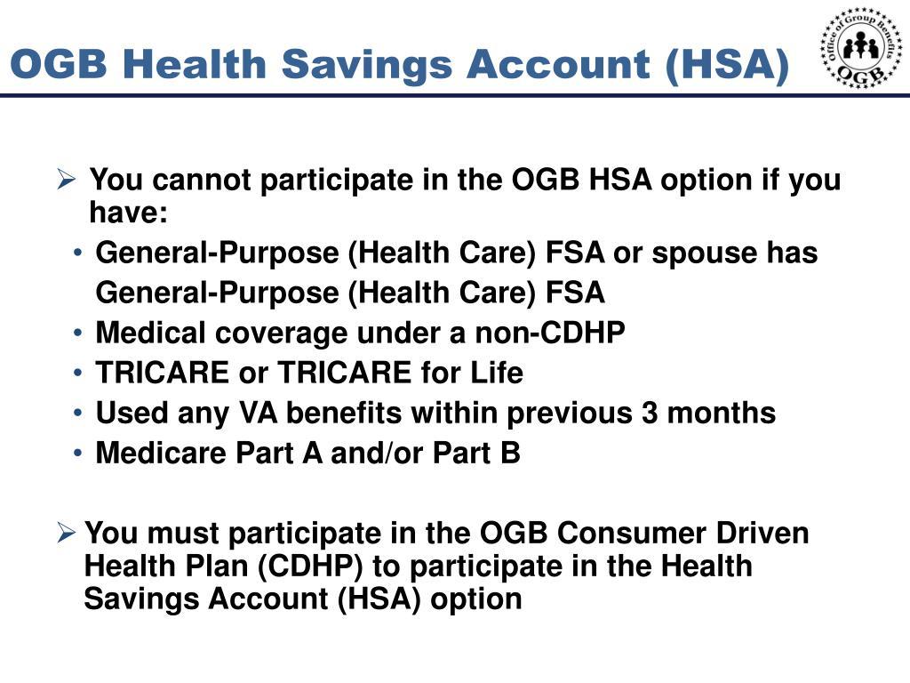 OGB Health Savings Account (HSA)