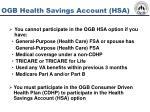ogb health savings account hsa