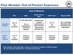 plan member out of pocket expenses39