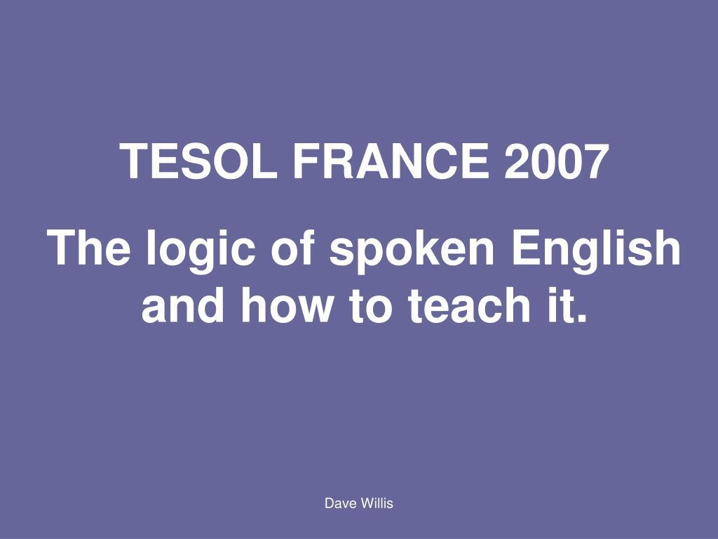 TESOL FRANCE 2007