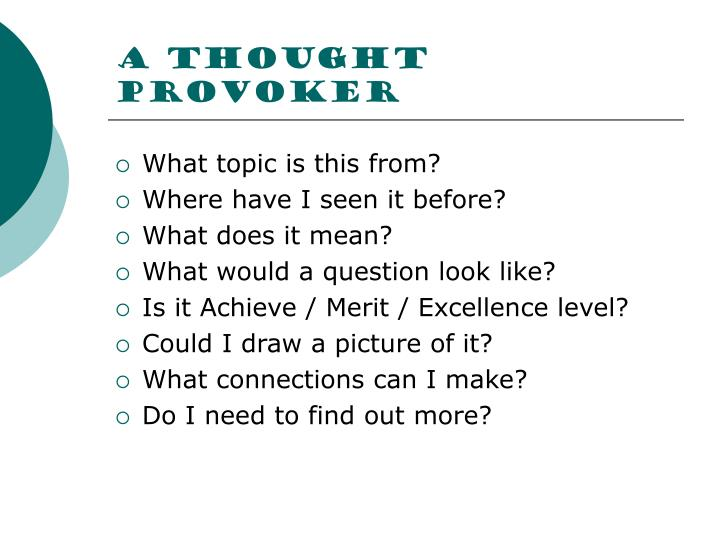 A thought provoker