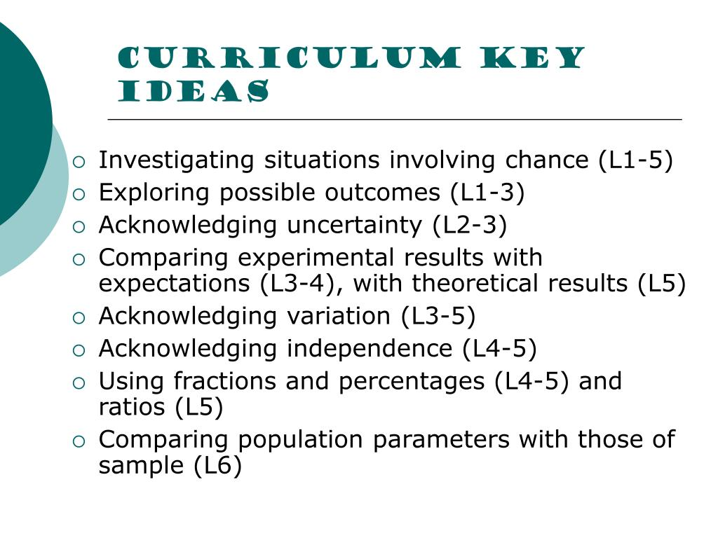 Curriculum key ideas