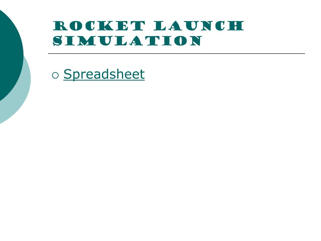 Rocket launch simulation