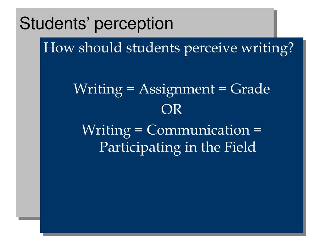 Students' perception