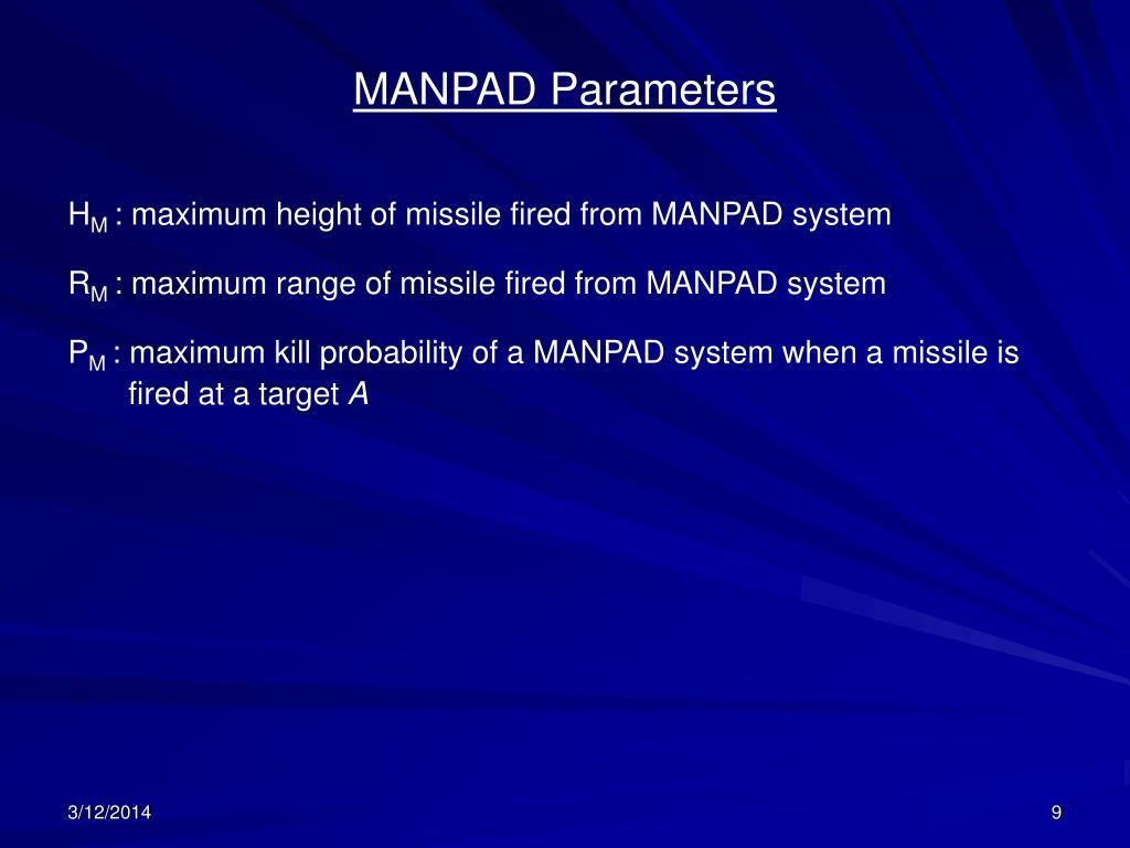 MANPAD Parameters