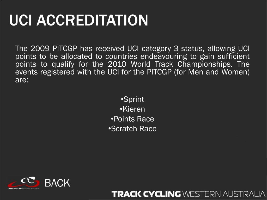 UCI ACCREDITATION