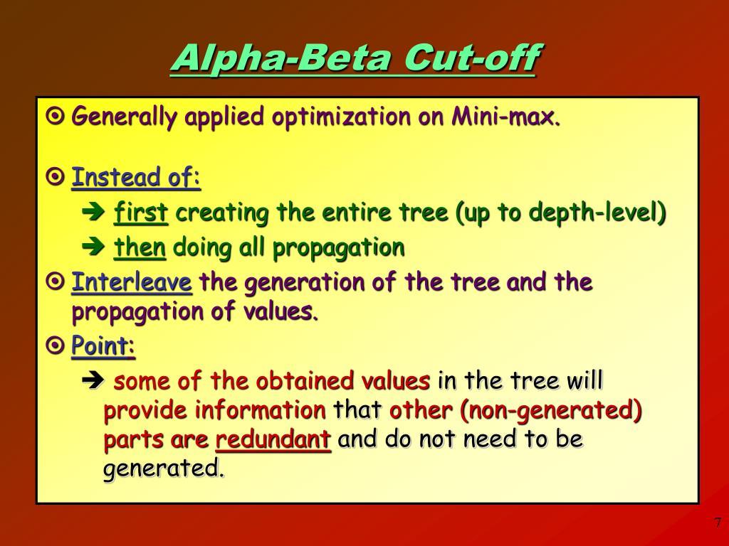 Alpha-Beta Cut-off