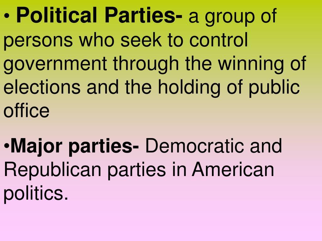 Political Parties-