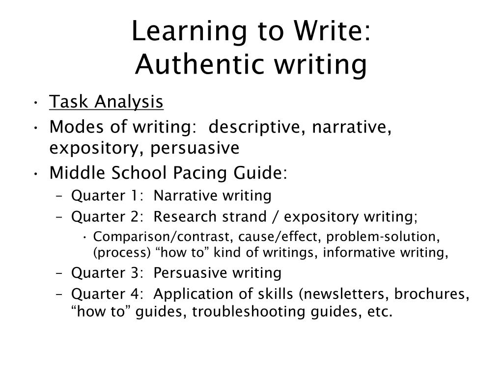Learning to Write: