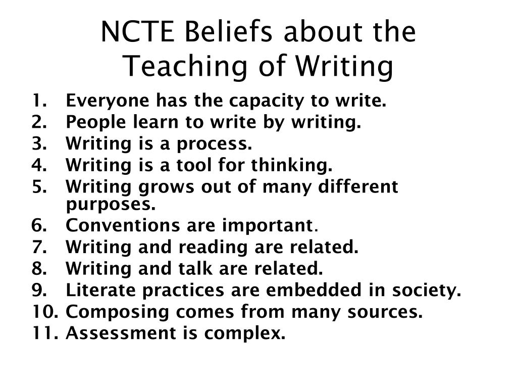 NCTE Beliefs about the