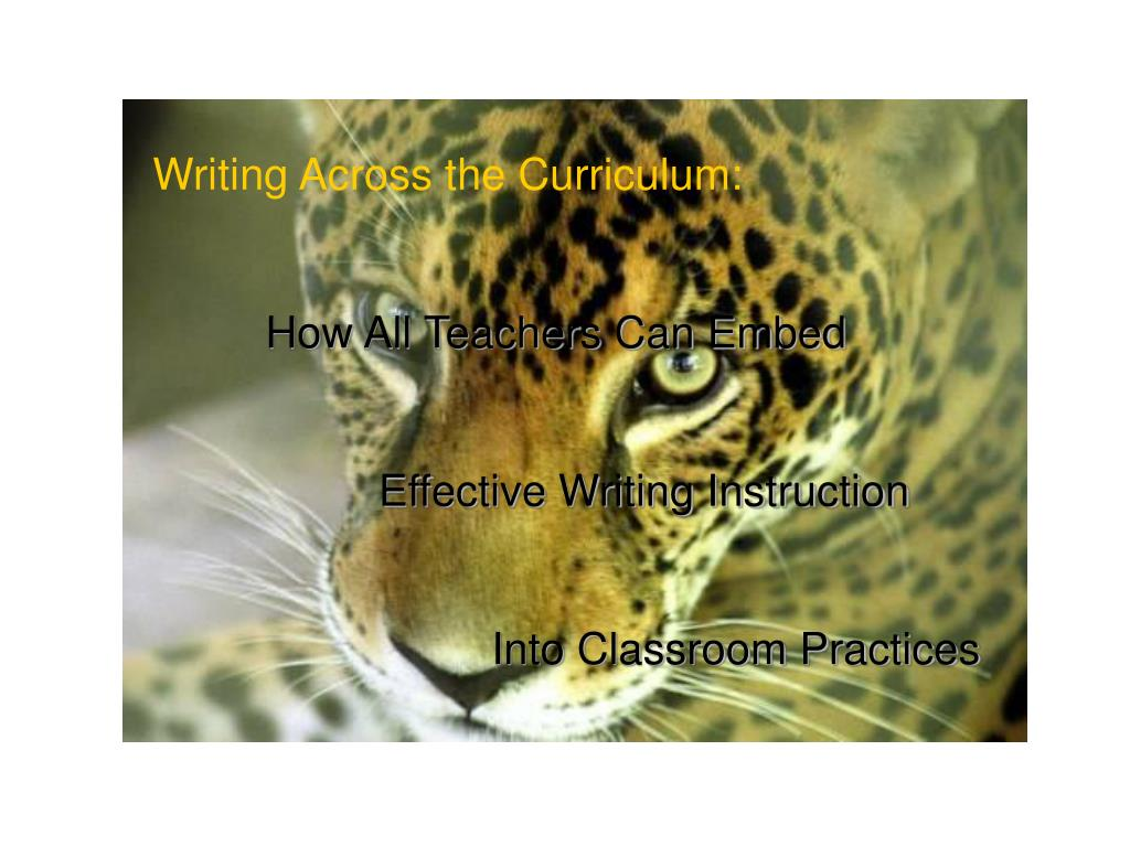 Writing Across the Curriculum: