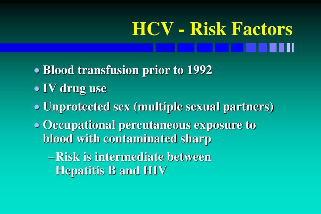 HCV - Risk Factors