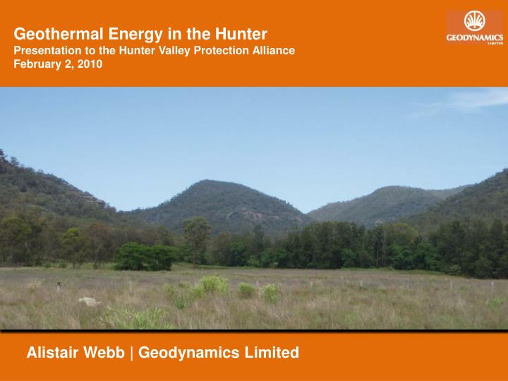 Geothermal Energy in the Hunter