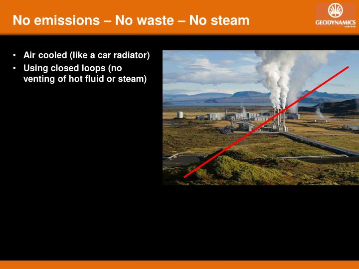 No emissions – No waste – No steam