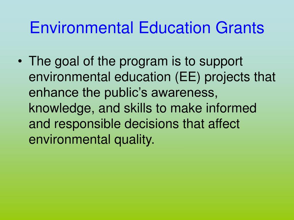 Environmental Education Grants