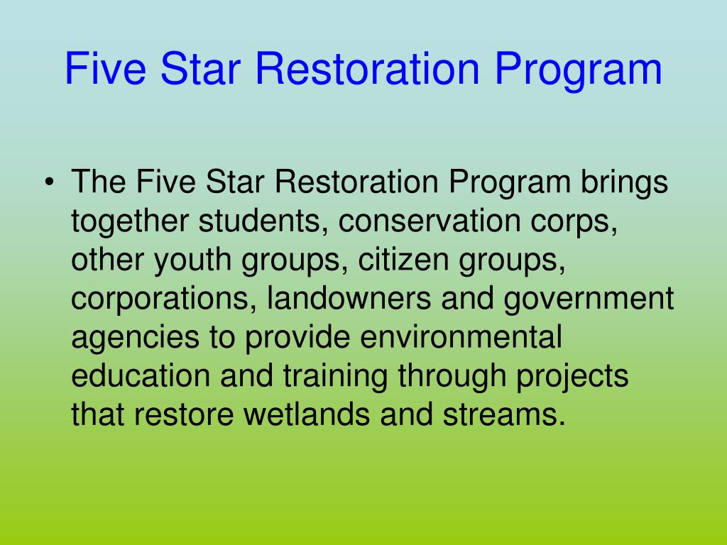 Five Star Restoration Program