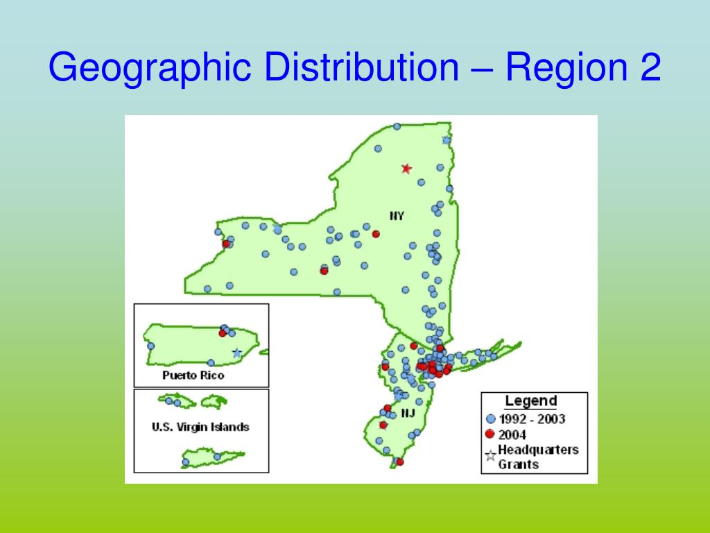 Geographic Distribution – Region 2