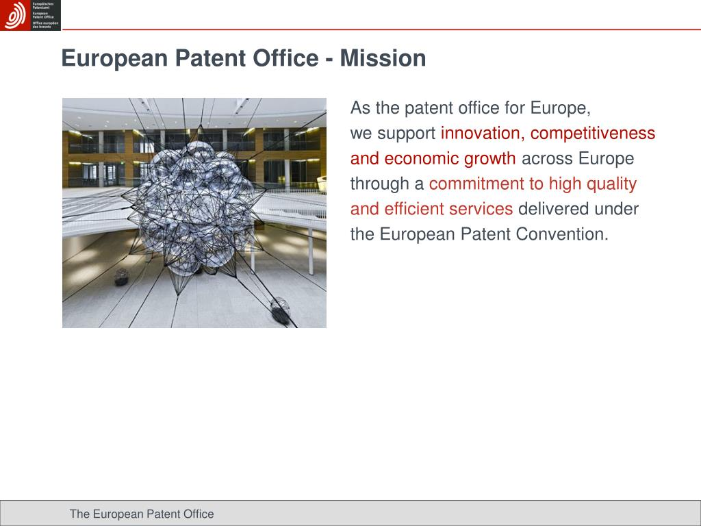 European Patent Office - Mission