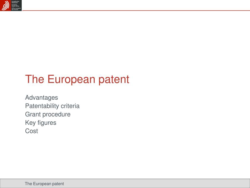 The European patent