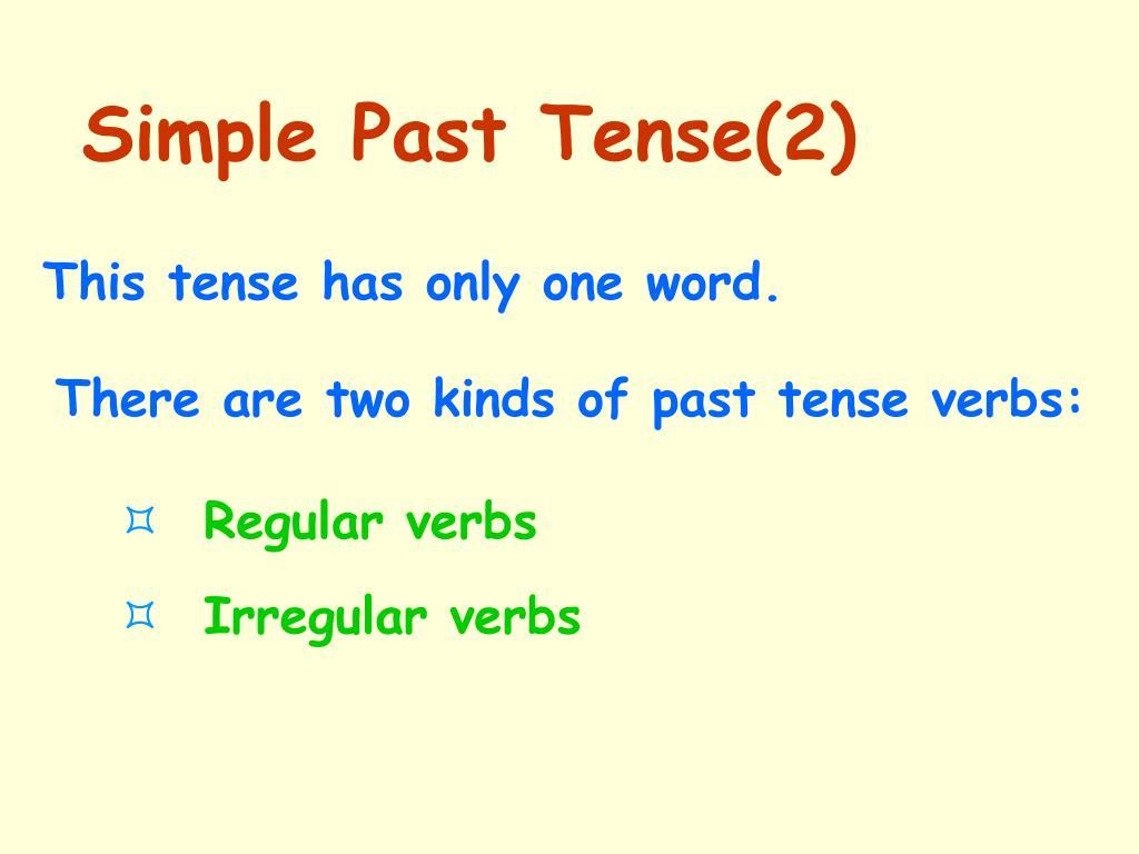 Simple Past Tense(2)
