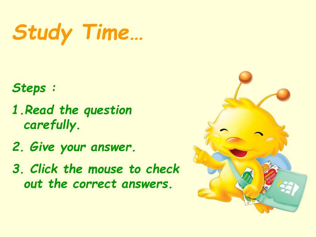 Study Time…