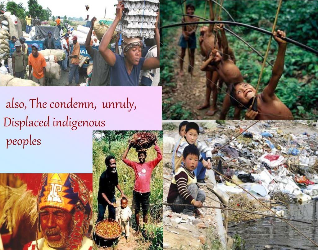 also, The condemn,  unruly, Displaced indigenous